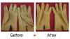 手袋汚れ除去&変色修正